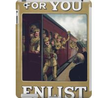 Theres room for you Enlist to day 305 iPad Case/Skin