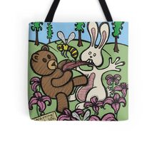 Teddy Bear And Bunny - Do Not Lick The Bees Tote Bag