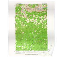 USGS Topo Map Washington State WA Mount Stuart 242565 1961 62500 Poster