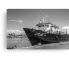 """""""Lady D"""" docked at Potter's Cay in Nassau, The Bahamas Canvas Print"""