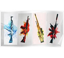 CS:GO Colorful Weapons 2 Poster