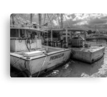 Fishing Boats at Potter's Cay in Nassau, The Bahamas Canvas Print