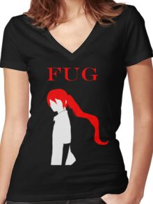 FUG Slayer Candidate Jyu Viole Grace Women's Fitted V-Neck T-Shirt