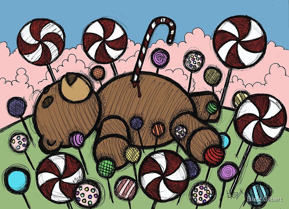 Teddy Bear and Bunny - Sugar Crash by Brett Gilbert