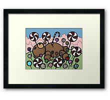 Teddy Bear and Bunny - Sugar Crash Framed Print