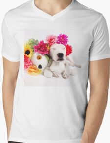Beebs & Babes Flower Crown Mens V-Neck T-Shirt