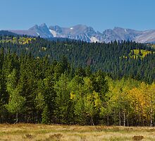 Panorama Autumn View Colorado Rocky Mountains Indian Peaks  by Bo Insogna