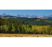 Panorama Autumn View Colorado Rocky Mountains Indian Peaks  Photographic Print
