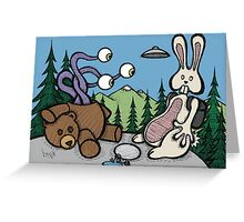 Teddy Bear and Bunny - The Confession Greeting Card