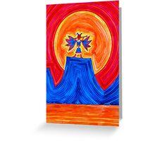 Thunderbird original painting Greeting Card
