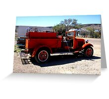 Fire Engine Red Greeting Card