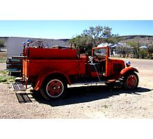 Fire Engine Red Photographic Print
