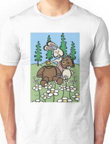 Teddy Bear and Bunny - Sweet Golden Blood Unisex T-Shirt