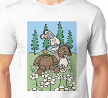 Teddy Bear and Bunny - Sweet Golden Blood Unisex T-Shirt