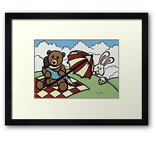 Teddy Bear and Bunny - The Girl That Came Between Them Framed Print