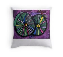 Bike , By B.W.Picture Guest artist, Matilda Burke Throw Pillow