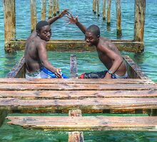 Bahamian Boys at Montagu Beach by 242Digital