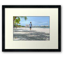 Bahamian Boy at Montagu Beach Framed Print