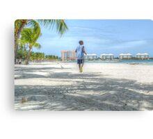 Bahamian Boy at Montagu Beach Canvas Print