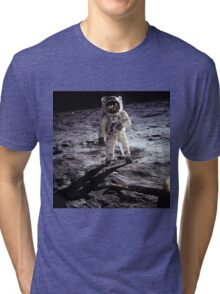 Buzz Aldrin on the Moon Tri-blend T-Shirt
