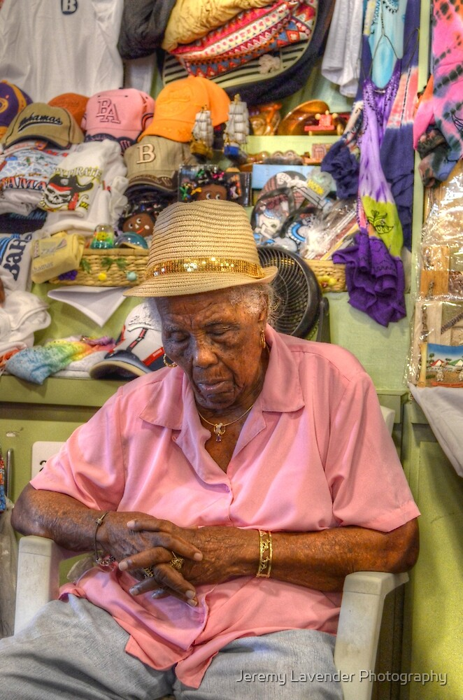 Straw Market in Nassau, The Bahamas... Sleeping at work by Jeremy Lavender Photography
