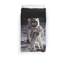 Buzz Aldrin on the Moon Duvet Cover