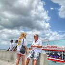 Tourists on Woodes Rodgers Walk in Downtown Nassau, The Bahamas by 242Digital