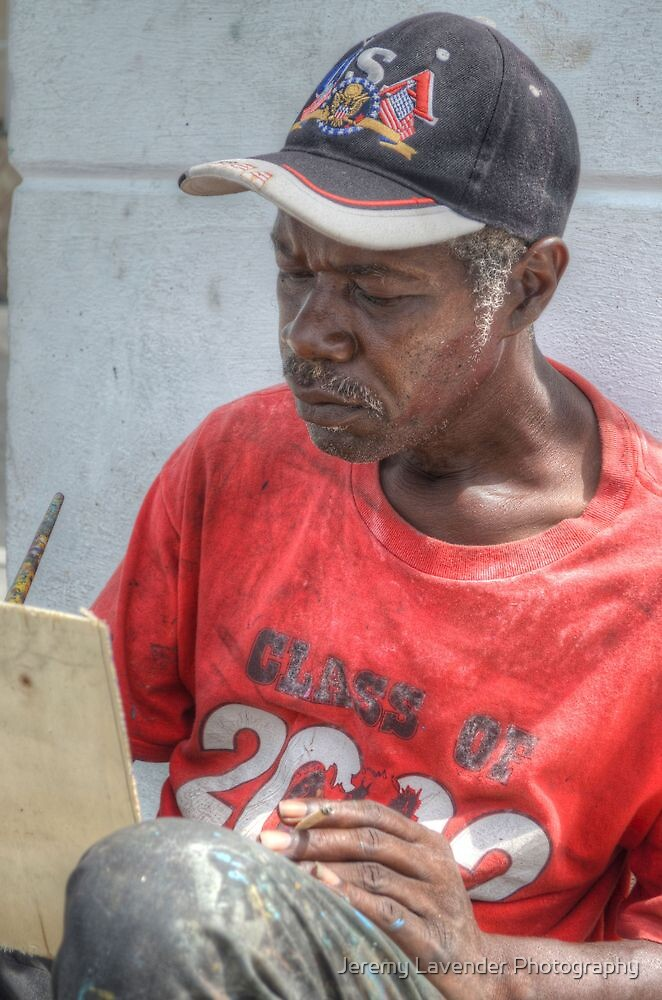 Street Painter Artist in Nassau, The Bahamas by Jeremy Lavender Photography