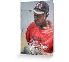 Street Painter Artist in Nassau, The Bahamas Greeting Card