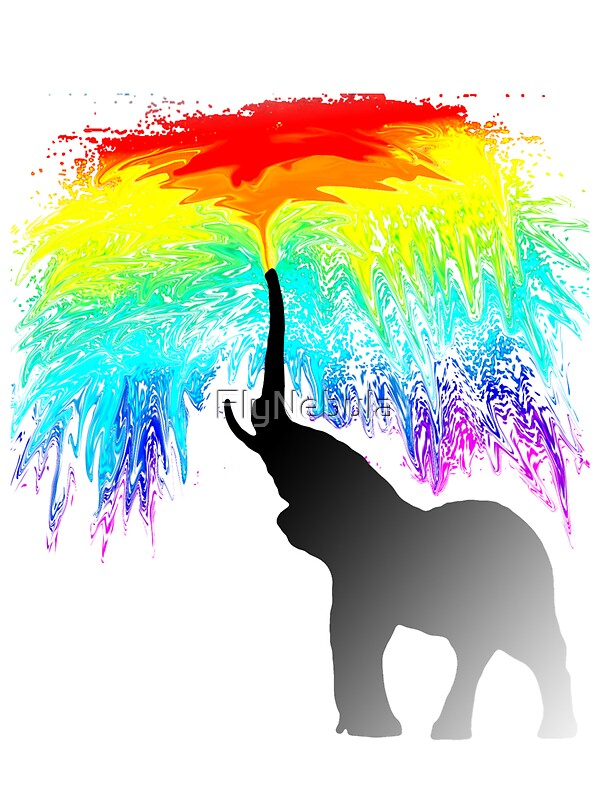 Quot Elephant Rainbow Quot Stickers By Flynebula Redbubble
