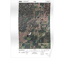 USGS Topo Map Washington State WA Spangle West 20110401 TM Poster