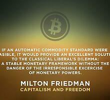 Bitcoin Capitalism Libertarian Milton Friedman Freedom by psmgop