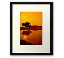 Desert Reflections Framed Print