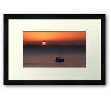 Great Keppel Island Duststorm Sunset Framed Print