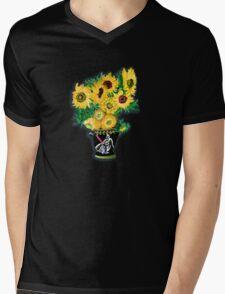 Sunflowers in Darth Vader Vase Mens V-Neck T-Shirt