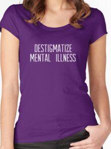destigmatize mental illness [white text] Women's Fitted Scoop T-Shirt