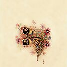 little flower owl iPhone and iPod Case by © Karin (Cassidy) Taylor