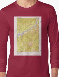 USGS Topo Map Washington State WA Boundary 240175 1952 24000 Long Sleeve T-Shirt