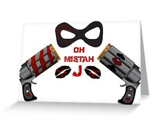 Harley Quinn Design Greeting Card