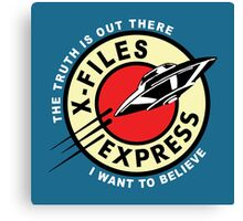 X-Files Express Canvas Print