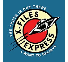 X-Files Express Photographic Print