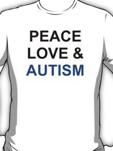 Peace, Love & Autism T-Shirt
