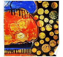 Orange Jelly Jelly - Monotype/Linocut Poster