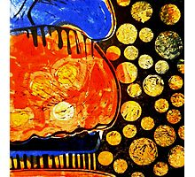 Orange Jelly Jelly - Monotype/Linocut Photographic Print