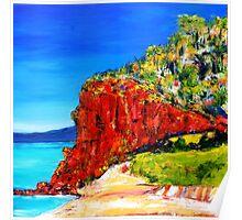 """Red Bluff"" Mornington Beach Poster"