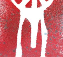 spray painted peace Sticker