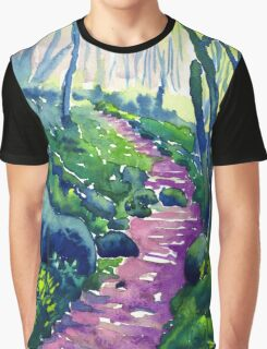 Monk's Dale Wood, Derbyshire Graphic T-Shirt
