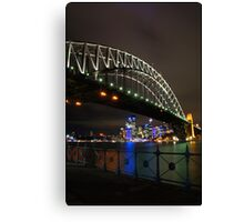 Sydney Harbour Bridge from Luna Park Canvas Print