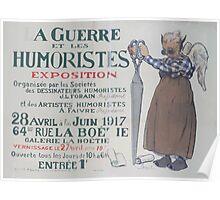 La guerre et les humoristes Exposition Poster