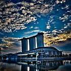 Sunrise at Marina Bay by RickyMoorePhoto